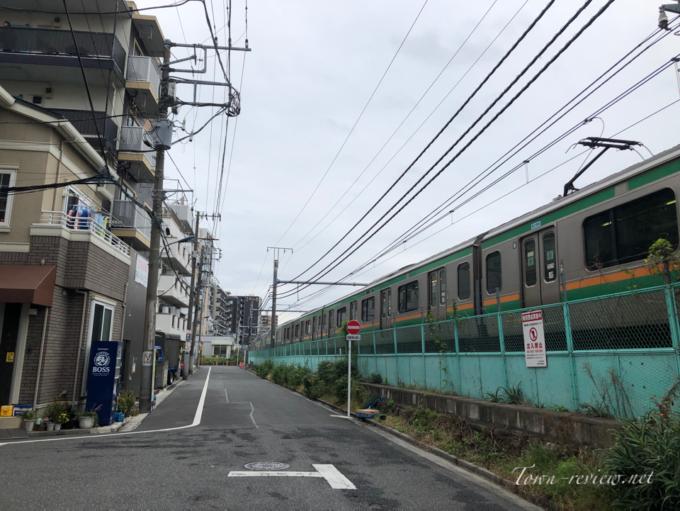 尾久駅に停車する上野東京ライン