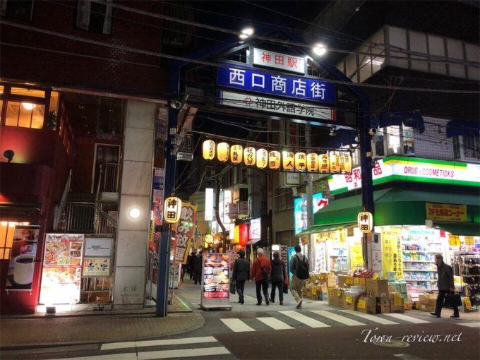 神田駅西口商店街の様子