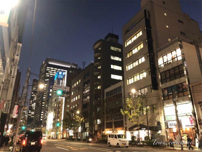ビジネスホテルが立ち並ぶ神田駅周辺