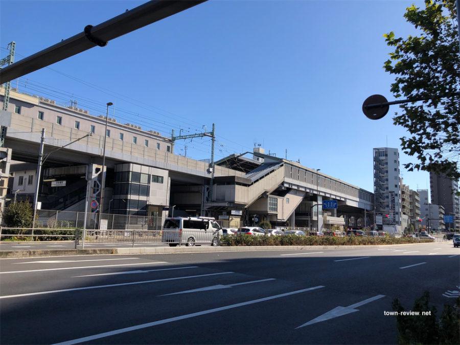 第一京浜から見た新馬場駅