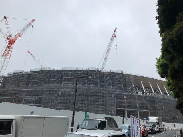 2019年末の完成を予定している新国立競技場 建設状況は
